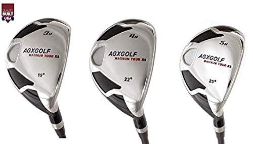 XS #3, 4 & 5 Hybrid Utility Irons Set w/Graphite Shafts + Covers Right Hand; Cadet, Regular Tall Lengths ! Built in The USA! ()