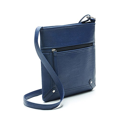 Girls Teen Medium Purse Bag for Leather Crossbody Women for Black ZOONAI Crossover TZvqZ