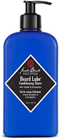 Jack Black - Beard Lube Conditioning Shave, 3, 6 and 16 fl oz – Pre-shave Oil, Shave Cream, Skin Conditioner, Lightweight Formula, Softens Hair, Jojoba and Eucalyptus, Transparent Formula