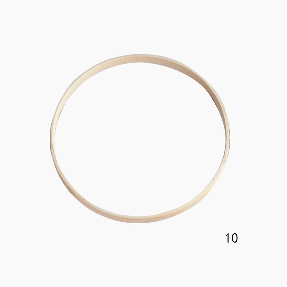 Lot de 20 anneaux en bambou pour travaux manuels pour broderie couture et couture en bois Cercle de broderie 10cm Voir image