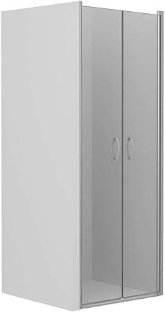 vidaXL Mampara Ducha Frontal 2 Puertas Pivotante Cristal Seguridad ...