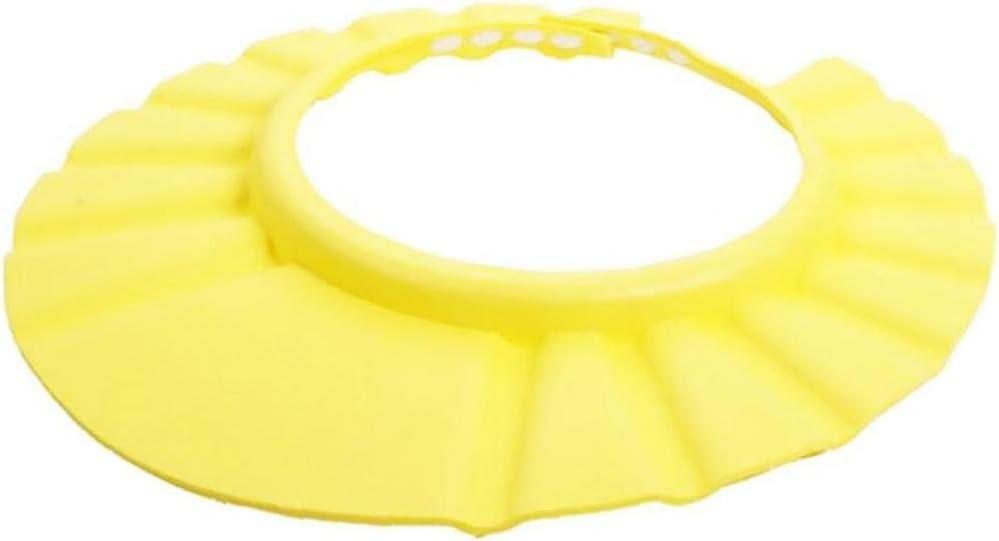 Baby Bath Cap Creative Shampooing Protection Chapeau Et Casques Antibruit R/églable Souple De Bain Bonnet De Douche pour B/éb/é Bain Chapeau Jaune
