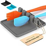Simple Craft Silicone Spoon Rest with Drip Pad