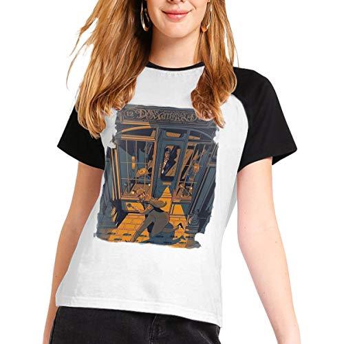 Dave Matthews Band-2019 Tour Women Music Band Shirt Stylish Cotton Short Sleeve Round Neck Shirt S Black