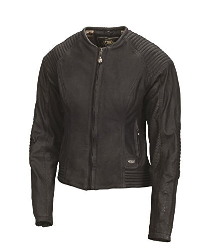 Roland Sands Design Quinn Women's Black Leather Jacket, L