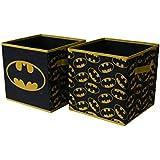 BATMAN Collapsible Storage Cube, Black (Pack of 2), (Model: NK371779)