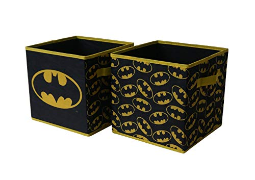 Batman Collapsible Storage Cube, Black (Pack of 2)