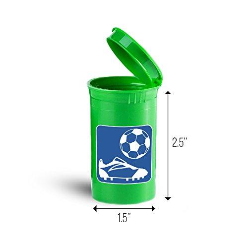 Soccer Boots Sport Portable Pocket Medicine Pill Box ID ()