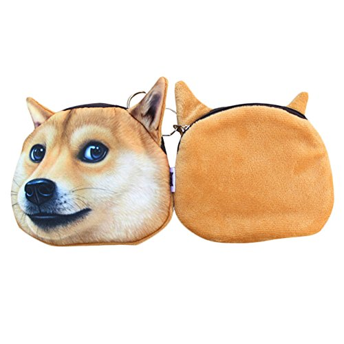 2 Small Coin A Per Face Men Funny Style Purse Women Ployester Soft Dog Available RRv6SZ