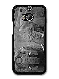 Black and White Elephants Photography Cute Beautiful Wild Animals case for HTC One M8