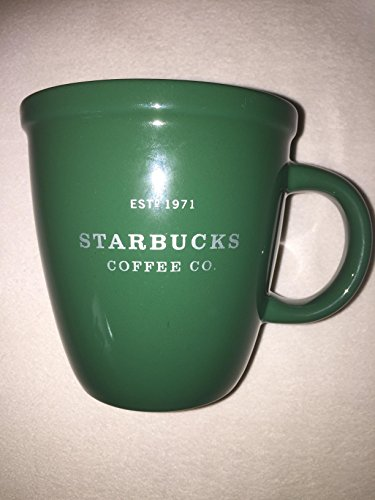 - Starbucks 2001 Barista Coffee Mug: Green with Silver Lettering