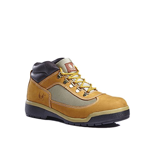 KINGSHOW Men's Classic Work Boots (10 M US Men's, Wheat) by KINGSHOW (Image #4)