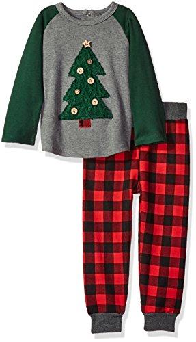 (Mud Pie Baby Boy Holiday Christmas Two Piece Play Set, Alpine Tree, 5T)
