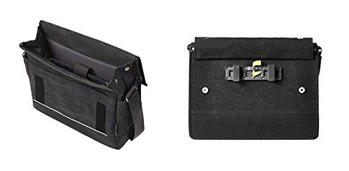 Basil Urban Fold Messenger and Bicycle Pannier Bag - Black - 20 Litres