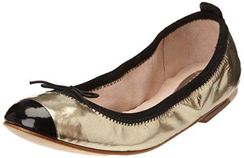Bloch Luxury - Bailarinas para mujer, color Or (Metallic Platino/Black), talla 36