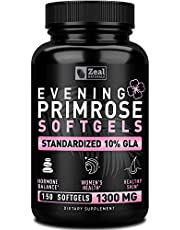 Evening Primrose Oil Capsules (150 Liquid Softgels | 1300mg) Pure Evening Primrose Oil Pills with 10% GLA - Cold-Pressed - No fillers or Artificial Ingredients ~ Non-GMO & Gluten Free