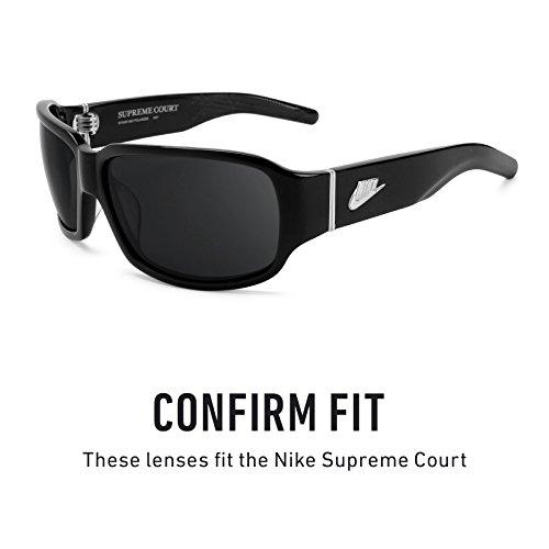 Verres de rechange pour Nike Supreme Court — Plusieurs options Soleil de Minuit MirrorShield® - Polarisés