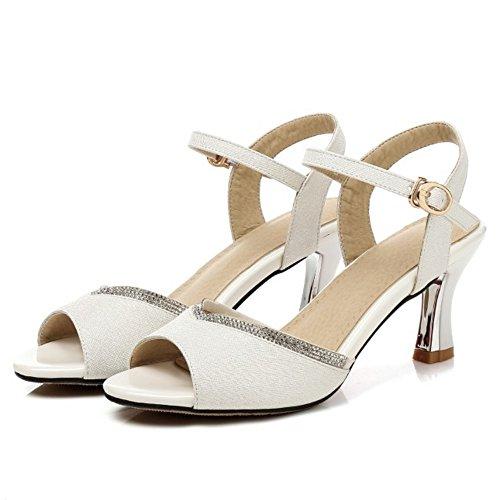 Bride Femmes RAZAMAZA Boucle White Sandales YOxEq6P