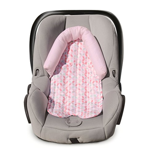 Carter's Infant Head Support for Carseats, Stollers and Swings, Lattice, Pink/White ()