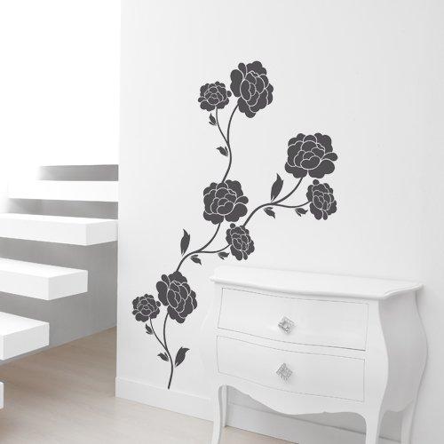 Finest decorazione interni florali rose decorazione per la for Stickers per muri