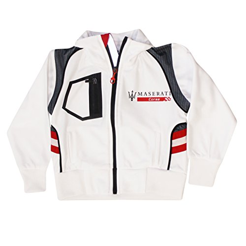 Maserati Kids Corse Zip Up Sweatshirt (White, 4 - Ferrari Jacket White