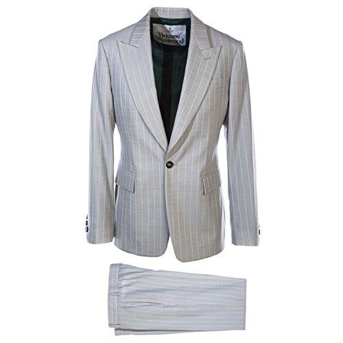 Vivienne Westwood Pinstripe & Zoot Detailing Suit in Grey 46 (Pinstripe Zoot Suit)