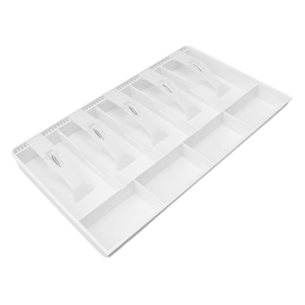 RDEXP 40.5x24.5x3.6cm White Cash Drawer for Point of Sale System with Removable Tray 5 Bills 4 Coins Cash Insert Tray RDEXPAM