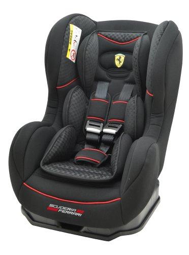 Osann Kinderautositz Cosmo SP, (0-18 kg), ECE Gruppe 0/1, von Geburt bis ca. 4 Jahre, reboard bis 10 kg nutzbar, Ferrari schwarz carbon