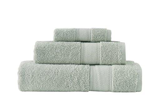 Grund 100% GOTS Certified Organic Turkish Cotton Towels, Pinehurst Collection, 3 piece set (13x13, 16x30, 30x54), Sage