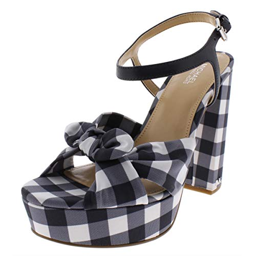- Michael Michael Kors Womens Pippa Suede Platform Sandals Navy 7 Medium (B,M)