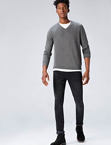 En Grey Find Col Tricot V charcoal Marl Pull Homme Gris trT11qw48x