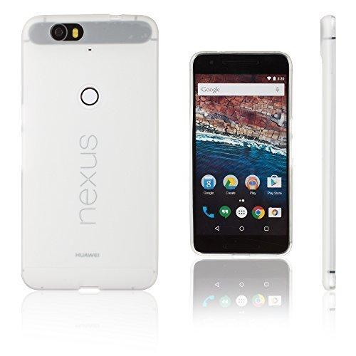 Xcessor Vapour Funda Carcasa de TPU Gel Flexible para Huawei Nexus 6P. Blanco Opaco