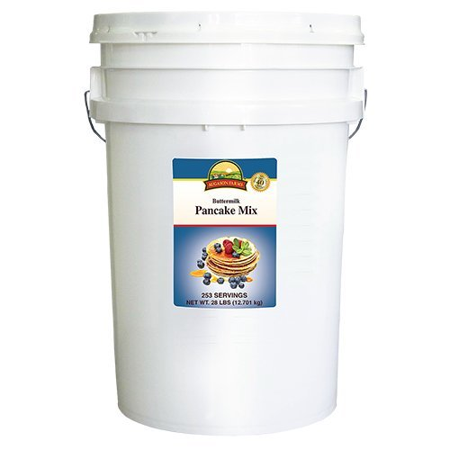 Farm Mix - Augason Farms Buttermilk Pancake Mix Emergency Food Storage 28 Pound Pail