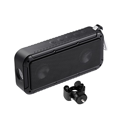 LESHP Outdoor Bicycle Speakers Portable Bluetooth 4.0 Speaker IP67 Waterproof Dust-proof Anti-scratch Shockproof Bluetooth Speaker with LED Light Bike Mount for Outdoor Riding Hiking Camping