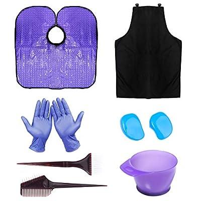HYOUJIN Hair Dye Coloring DIY Beauty Salon Tool Kit- Hair Tinting Bowl,Dye Brush,Ear Cover,Hair Salon Working Apron,Hair Coloring Cape For Hair Coloring Bleaching Hair Dryers Hair Dye Tools