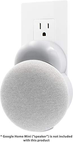 Plug-in Mount – Accessory for Google Home Mini – 2019 Model (Gray)