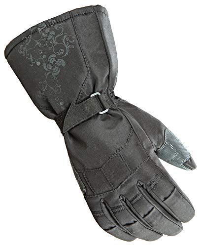 Joe Rocket Sub Zero Women's Textile Street Bike Racing Motorcycle Gloves - Black / Large - Womens Textile Gloves