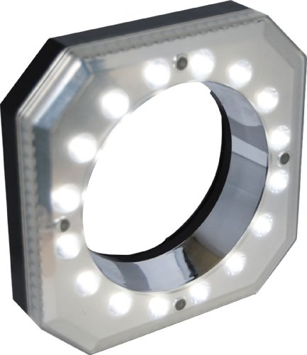 Polaroid Digital Macro 16 LED Ring Light (Includes 49/52/55/58/62/67mm Adapters) For The Canon Digital EOS Rebel SL1 (100D), T5i (700D), T5 (1200D), T4i (650D), T3 (1100D), T3i (600D), T1i (500D), - Canon 52 T5i Camera Off