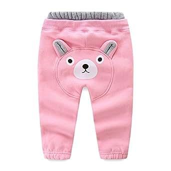 LittleSpring Little Boys' Long Pants Cartoon Size 12M Pink