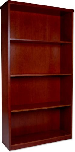 Mayline Wood Veneer Four Shelf Bookcase Dimensions: 34 5/8