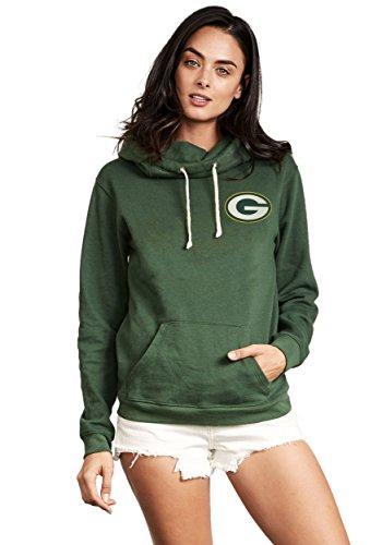 Green Bay Packers Sunday Cowl Neck Women's Hoodie 2X