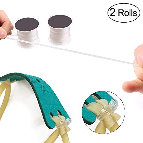 TOPRADE Transparent Elastic Tape String Belt For Binding Slingshot Rubber Band Tube (Best Material For Slingshot Bands)