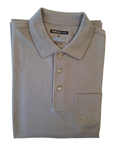 Van Heusen Men's Studio Slim-Fit Polo (Medium, Grey Cumulus)