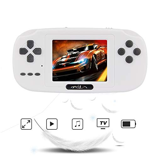 """Rongyuxuan Handheld Game Console, Game Console 2.8""""LCD PVP Plus Game Player with 168 Games Classic Handheld Game Console USB Charge Birthday for Children"""