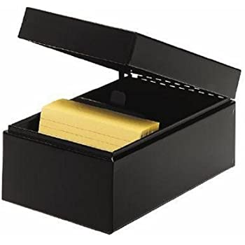 steelmaster steel card file box fits 3 x 5 index cards 900 card capacity - Index Card Holder