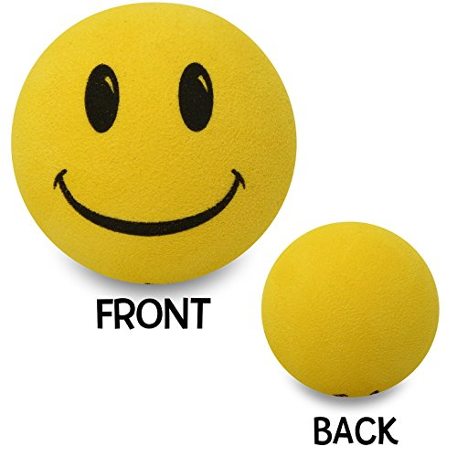Tenna Tops Happy Yellow Smiley Face Car Antenna Topper/Antenna Ball/Rear View Mirror Dangler/Auto Accessory