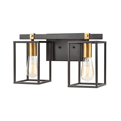 Elk Lighting 46631/2 Vanity Light, Matte Black, Brushed Brass ()