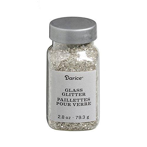 Darice 30029673 Vintage Silver Glass 2.8 oz Glitter