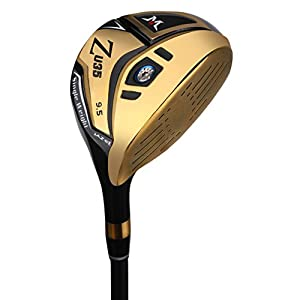 MAZEL Titanium Men's Golf Driver, Right Handed,Loft 9.5 Degree,Golden