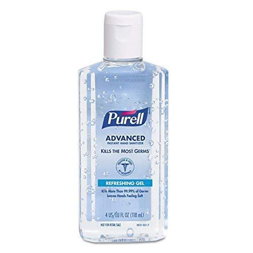 PURELL 965124 Advanced Instant Hand Sanitizer, 4oz Flip-Cap Bottle, 24/Carton